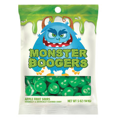 CLEVER CANDY - PEG - MONSTER BOOGERS - APPLE - 5OZ