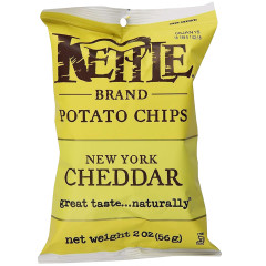 KETTLE NEW YORK CHEDDAR POTATO CHIPS 2 OZ PEG BAG