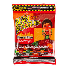 JELLY BELLY BEAN BOOZLED FIERY FIVE 1.9 OZ PEG BAG