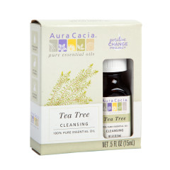 AURA CACIA BOXED TEA TREE ESSENTIAL OIL 0.5 OZ BOTTLE