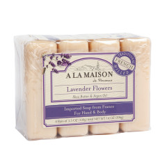 A LA MAISON LAVENDER FLOWERS 4 VALUE PACK 3.5 OZ BARS