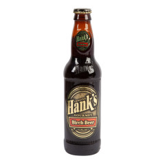 HANK'S BIRCH BEER SODA 12 OZ BOTTLE