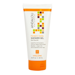 ANDALOU NATURALS MANDARIN VANILLA VITALIZING SHOWER GEL 8.5 OZ TUBE