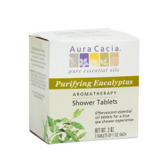 AURA CACIA PURIFYING EUCALYPTUS SHOWER TABLETS 3 OZ BOX