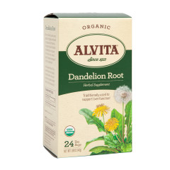 ALVITA TEA - DANDELION ROOT TEA BAGS - ORGANIC - 24CT - 6CS