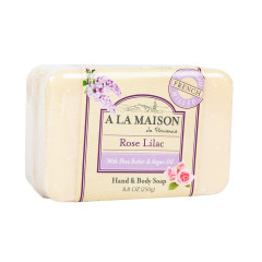 A LA MAISON - SOLID BR SOAP ROSE LILAC - 8.8OZ