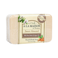 A LA MAISON SWEET ALMOND SOLID SOAP 8.8 OZ BAR
