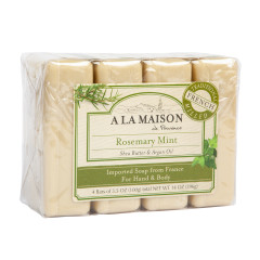 A LA MAISON - ROSEMARY MINT 4BAR VALU PK - 4/3.5OZ