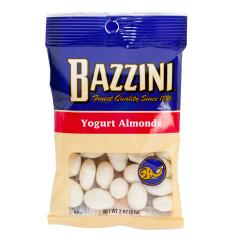 BAZZINI YOGURT COVERED ALMONDS 2.5 OZ PEG BAG