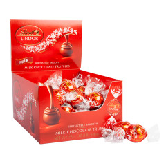 LINDT LINDOR MILK CHOCOLATE TRUFFLES 60 PC BOX
