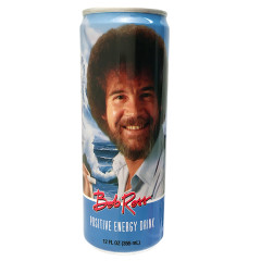BOB ROSS POSITIVE ENERGY DRINK 12 OZ CAN