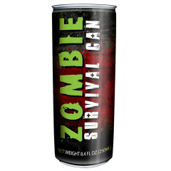 ZOMBIE SURVIVAL ENERGY DRINK 12 OZ CAN