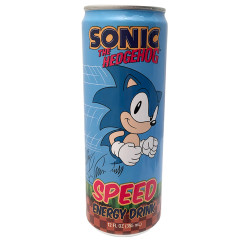 SONIC THE HEDGEHOG SPEED ENERGY DRINK 12 OZ CAN