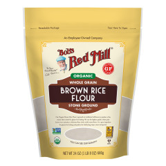 BOB'S RED MILL - ORGANIC BROWN RICE FLOUR - 24OZ
