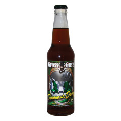 GROSS GUS'S DINOSAUR DUNG CHOCOLATE SODA 12 OZ BOTTLE