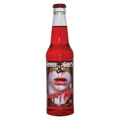 GROSS GUS'S BLOODY NOSE WILD CHERRY SODA 12 OZ BOTTLE