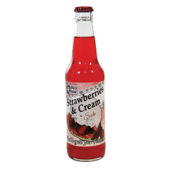 MELBA'S FIXINS STRAWBERRY & CREAM SODA 12 OZ BOTTLE