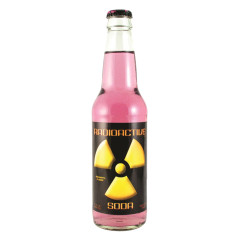 MARTIAN RADIOACTIVE MULBERRY SODA 12 OZ BOTTLE