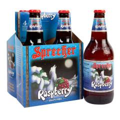 SPRECHER RASPBERRY SODA (SEASONAL) 16 OZ BOTTLE 4 PACK