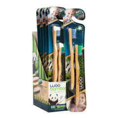WOOBAMBOO KIDS SUPER SUPER SOFT BRISTLE 2 PACK TOOTHBRUSH