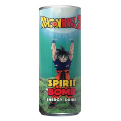 DRAGON BALL Z SPIRIT BOMB ENERGY DRINK 12 OZ CAN