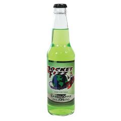 ROCKET FIZZ GREEN APPLE JALAPENO SODA 12 OZ BOTTLE