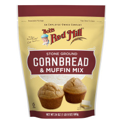 BOB'S RED CORNBREAD & CORN MEAL MUFFIN MIX 24 OZ POUCH