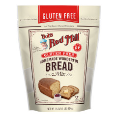 BOB'S RED GLUTEN FREE HOMEMADE WONDERFUL BREAD MIX 16 OZ POUCH