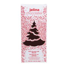 JELINA - HOLIDAY BAR - DARK CHOCOLATE W/ALM - 2.82OZ