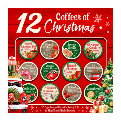 12 K CUP COFFEES OF CHRISTMAS 25.6 OZ GIFT PACK