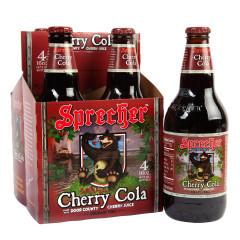 SPRECHER SODA CHERRY COLA 16 OZ BOTTLE 4 PACK