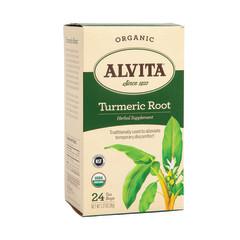 ALVITA TEA - TURMERIC TEA BAGS - ORGANIC - 24CT - 6/CS