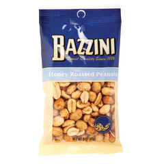 BAZZINI HONEY ROASTED PEANUTS 3 OZ PEG BAG