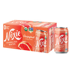 NIXIE ORGANIC SPARKLING GRAPEFRUIT WATER 3 PACK 12 OZ CAN