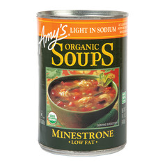 AMY'S LIGHT SODIUM MINESTRONE SOUP 14.1 OZ CAN