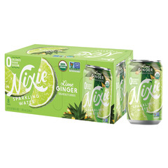 NIXIE ORGANIC SPARKLING LIME GINGER WATER 3 PACK 12 OZ CAN