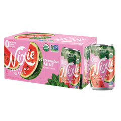 NIXIE ORGANIC SPARKLING WATERMELON MINT WATER 3 PACK 12 OZ CANS
