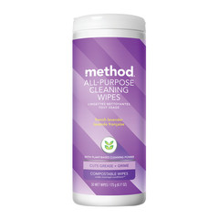 METHOD FRENCH LAVENDER ALL PURPOSE CLEANER WIPES 6.17 OZ TUBE