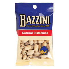 BAZZINI NATURAL PISTACHIOS 1.5 OZ PEG BAG