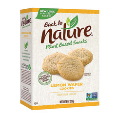 BACK TO NATURE - COOKIES - LEMON WAFERS - 9OZ