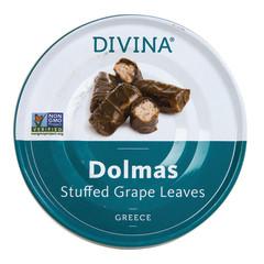 DIVINA DOLMAS STUFFED GRAPE LEAVES 7 OZ TIN