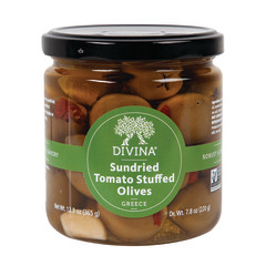 DIVINA - OLIVES STUFFED WITH SUNDRIED DRIED TOMS - 7.8OZ
