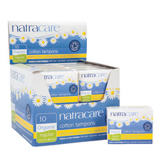 NATRACARE ORGANIC REGULAR TAMPONS SHELF DISPLAY