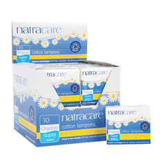 NATRACARE ORGANIC SUPER TAMPONS SHELF DISPLAY
