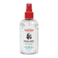 THAYER'S ALCOHOL FREE UNSCENTED WITCH HAZEL FACIAL MIST 8 OZ SPRAY