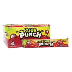 SOUR PUNCH CHERRY STRAWS 2 OZ