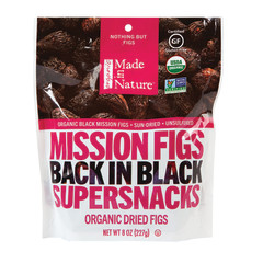 MADE IN NATURE ORGANIC BLACK MISSION FIGS 8 OZ PEG BAG