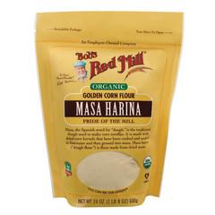 BOB'S RED MILL GOLDEN MASA HARINA CORN FLOUR 22 OZ POUCH