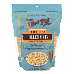 BOB'S RED EXTRA THICK ROLLED OATS 16 OZ PEG BAG