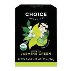 CHOICE ORGANICS TEA JASMINE GREEN 16 CT BOX